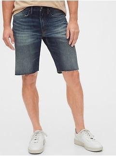 Denim Shorts with Raw Hem