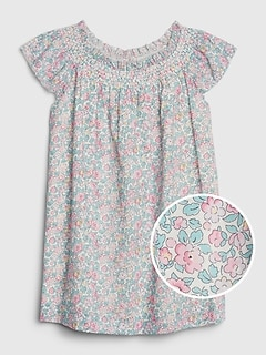 Toddler Floral Smocked Dress