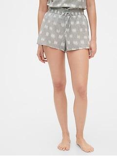Dreamwell Crinkle Shorts in Modal