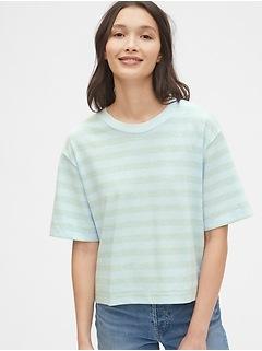 Crop Striped T-Shirt