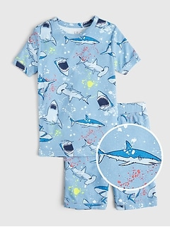 Kids Shark Short PJ Set