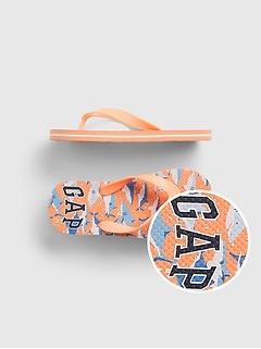 Kids Camo Gap Logo Flip Flops