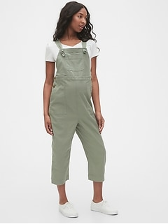Maternity Cropped Overalls in TENCEL™