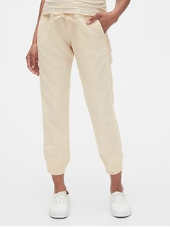 Maternity Joggers in Linen