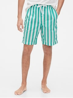 Pajama Shorts in Poplin