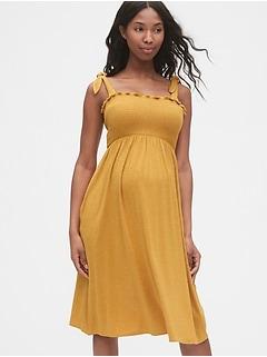 Maternity Smocked Tank Dress
