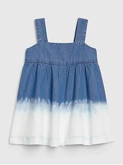 Baby Dip-Dye Denim Dress
