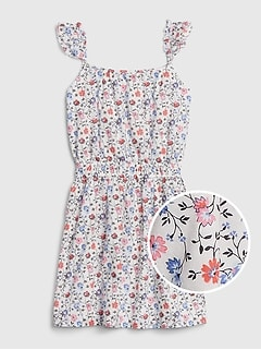Kids Flutter Print Dress