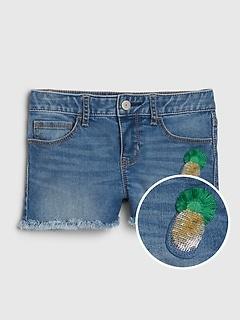 Kids Flippy Sequin Shortie Shorts