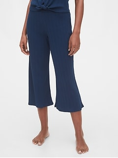 Ribbed Lounge Culottes