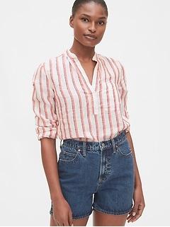 Popover Pocket Shirt in Linen