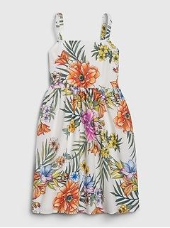 Kids Floral Twist Dress