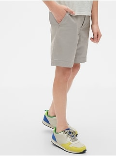 Kids Lived-In Khaki Shorts with Stretch
