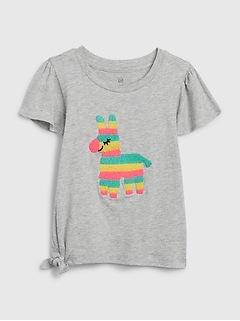 T-shirt noué à imprimé pour tout-petit