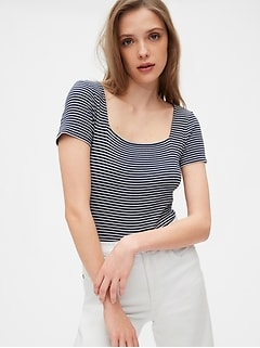 Squareneck Short Sleeve Bodysuit