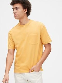 T-shirt confort de poids lourd à poche