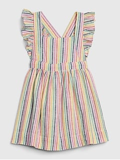Baby Apron Striped Dress