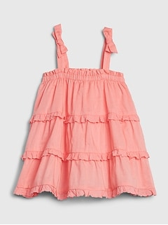 Baby Spaghetti Strap Tiered Dress