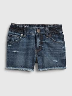 Toddler Denim Shorty Shorts