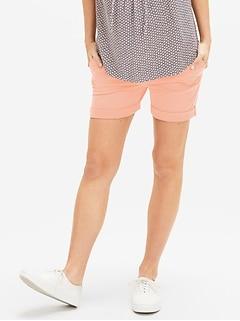Maternity Full Panel Stretch Khaki Shorts