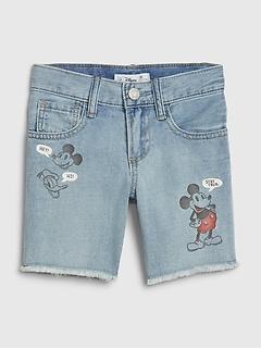 babyGap | Disney Mickey Mouse Denim Shorts