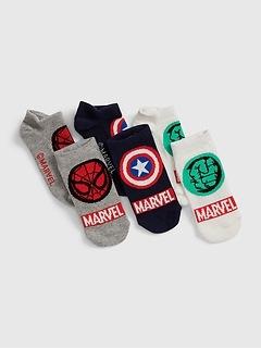 GapKids | Marvel No-Show Socks (3-Pack)