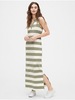 Sleeveless Maxi Dress in Modal-Cotton