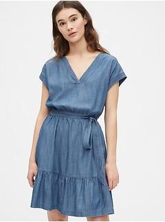Ruffle Hem Dress in TENCEL™