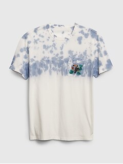 Graphic Crewneck Pocket T-Shirt