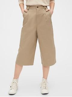 Jupe-culotte kaki