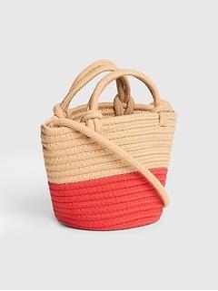 Mini Bucket Rope Crossbody Bag