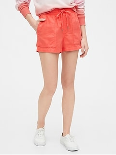 Utility Shorts in Linen-Cotton