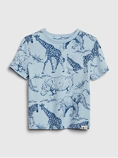 Toddler Print Pocket T-Shirt