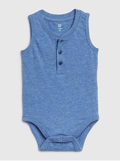 Cache-couche camisole henley à imprimé pour bébé