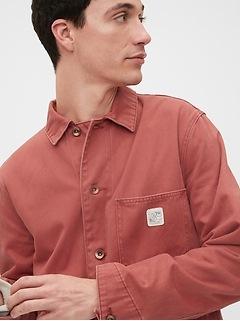 Chemise d'ouvrier de style années 80