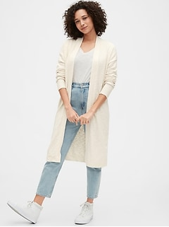 Open-Front Duster Sweater