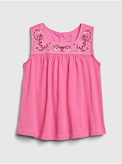 Toddler Embroidered Tank Top