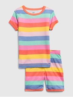 Kids Rainbow Stripe PJ Set