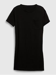 Short Sleeve Pocket T-Shirt Dress