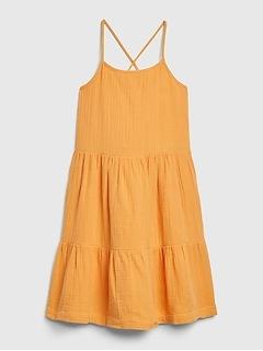 Kids Gauze 3-Tiered Dress
