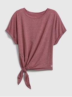 T-shirt GapFit Breathe à manches chauve-souris et liens sur les côtés