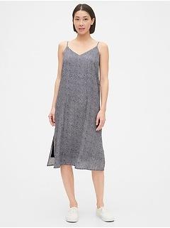 Tie-Back Cami Midi Dress