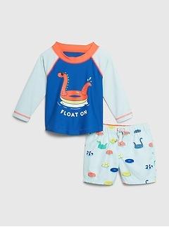 Baby Long Sleeve Swim Set