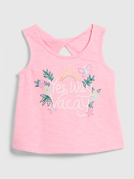Toddler Graphic Twist Tank Top