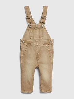 Baby Denim Khaki Overalls