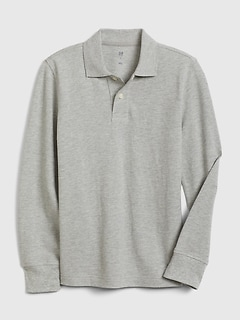 Kids Long Sleeve Polo T-Shirt