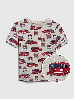Toddler Print Pocket T-Shirt