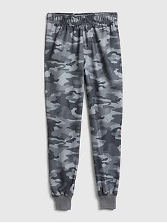 Pantalon de pyjama à imprimé camouflage pour enfant