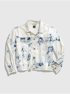 Teen Tie-Dye Denim Jacket