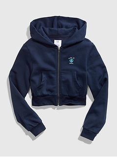 Teen Crop Full-Zip Hoodie